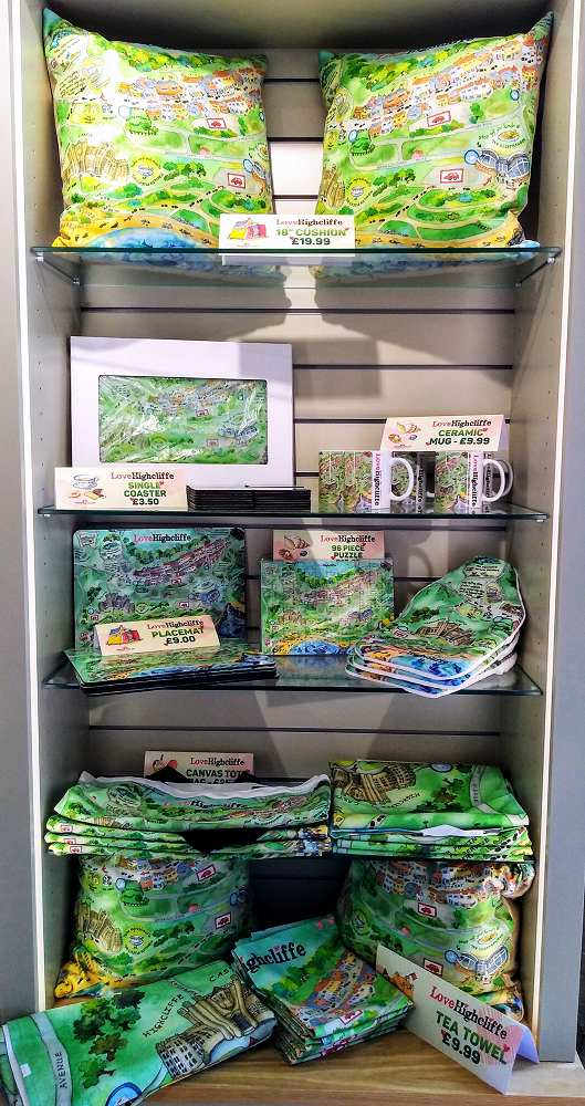 Highcliffe map gifts at HIghcliffe Castle