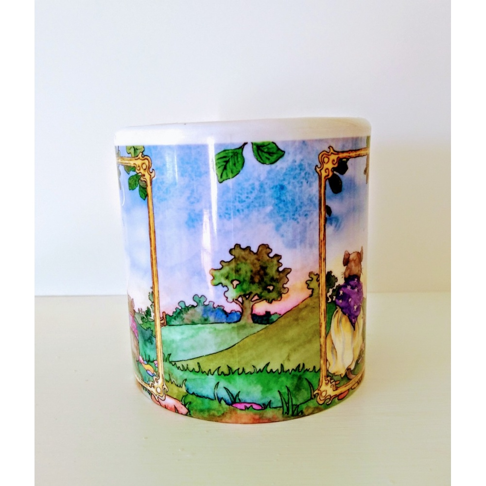 one_summer_evening_plastic_mug_full_on