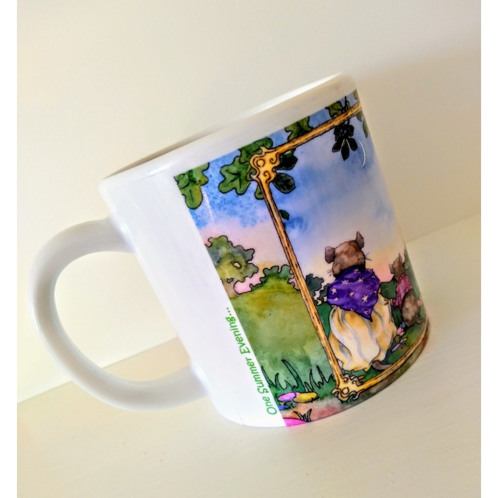 one_summer_evening_plastic_mug_title